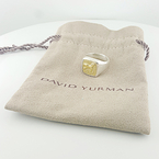 Designer David Yurman Petrvs Horse Ring 18K Gold & .925 Silver Size 6.75 W/Pouch