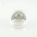 Designer David Yurman Petrvs Horse Ring 18K Gold & .925 Silver Size 6.75 W/Pouch
