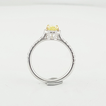 Ladies Engagement Ring By Tiffany &Co Soleste Pear Fancy Vivid Yellow Collection