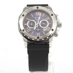 Men's Bulova 98B258 Marine Star Blue Dial Black Rubber Band Chronograph Watch  - New