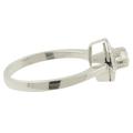 Ladies Vintage Classic Estate 10K White Gold Round-Cut Diamond Solitaire Ring