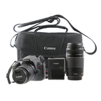 Canon EOS Rebel T6 DSLR Camera Kit w/ 18-55mm and 75-300mm Lenses - DS126621