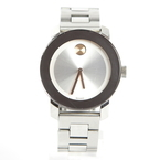 Movado BOLD Men's Swiss Watch - Stainless Steel - Silver Dial - MB.01.3.14.6037