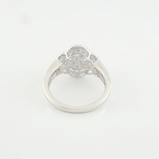 Stunning Vintage 1.65 CTW Pave Diamond Set Ladies Cocktail Ring 14K White Gold