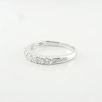 Elegantly Dainty Ladies Wedding Band Prong Set In 14K White Gold Diamond Ring