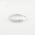 Elegantly Dainty Ladies Wedding Band Prong Set In 14K White Gold Diamond Ring