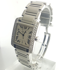 Cartier Tank Francaise 2302 Stainless Steel 28mm Custom Diamond Automatic Watch