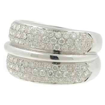 Ladies Vintage Classic Estate 18K White Gold Round Diamond Ring Band - 2.55CTW