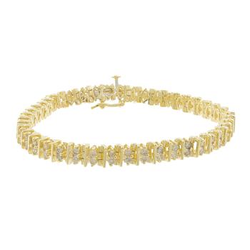 Ladies Vintage Estate 14K Yellow Gold Round Diamond Tennis Bracelet - 2.64CTW