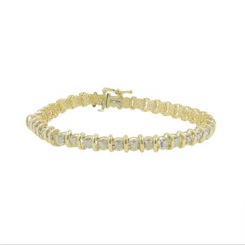 Ladies Vintage Classic Estate 10K Yellow Gold Diamond Tennis Bracelet - 1.95CTW