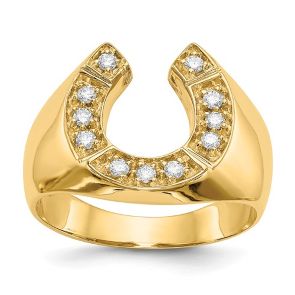 7c327054b7574 Men's Modern 14K Yellow Gold White Diamond