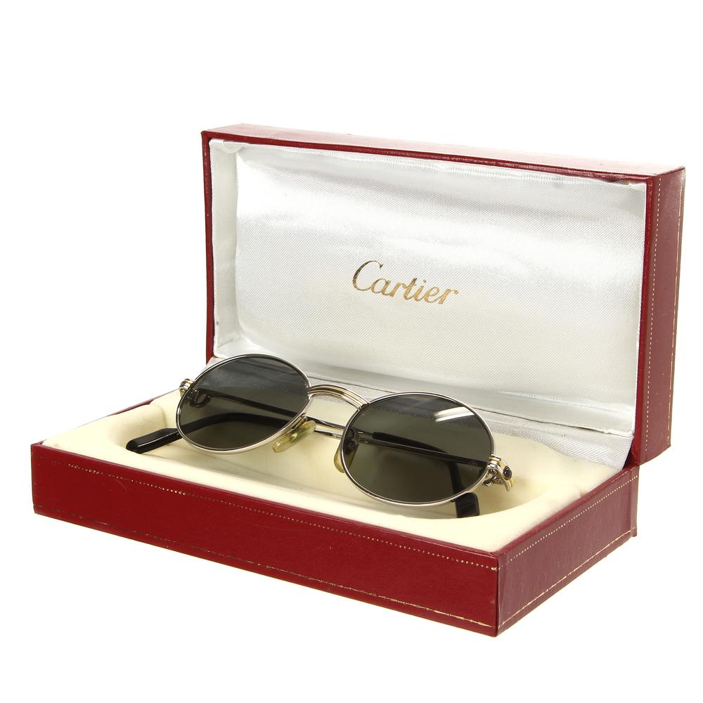 2013bde7db1d Rare Vintage 90 s Cartier Saint Honore Two-Tone Gold Sunglasses France  49-18-130. A1b831935c3120481e835e4c5c93d88e.  161cdac223cd97de5b3b89bbfc1cdf70