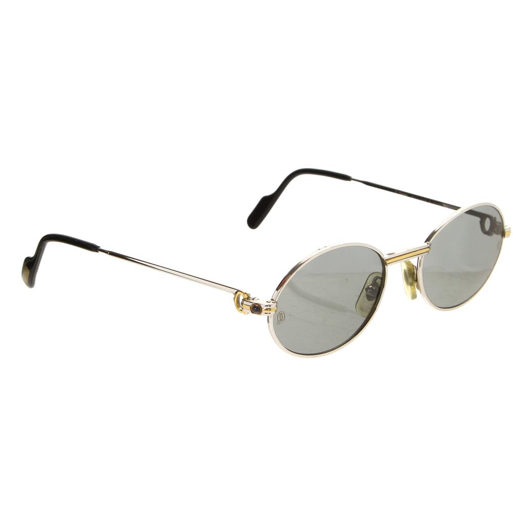dc83427f436a 1a55d3e9551f65d4b3c46b31eb2ec834. 624ade45ca6919e74e3ce6c2b92c7c6a. Rare  Vintage 90 s Cartier Saint Honore Two-Tone Gold Sunglasses ...