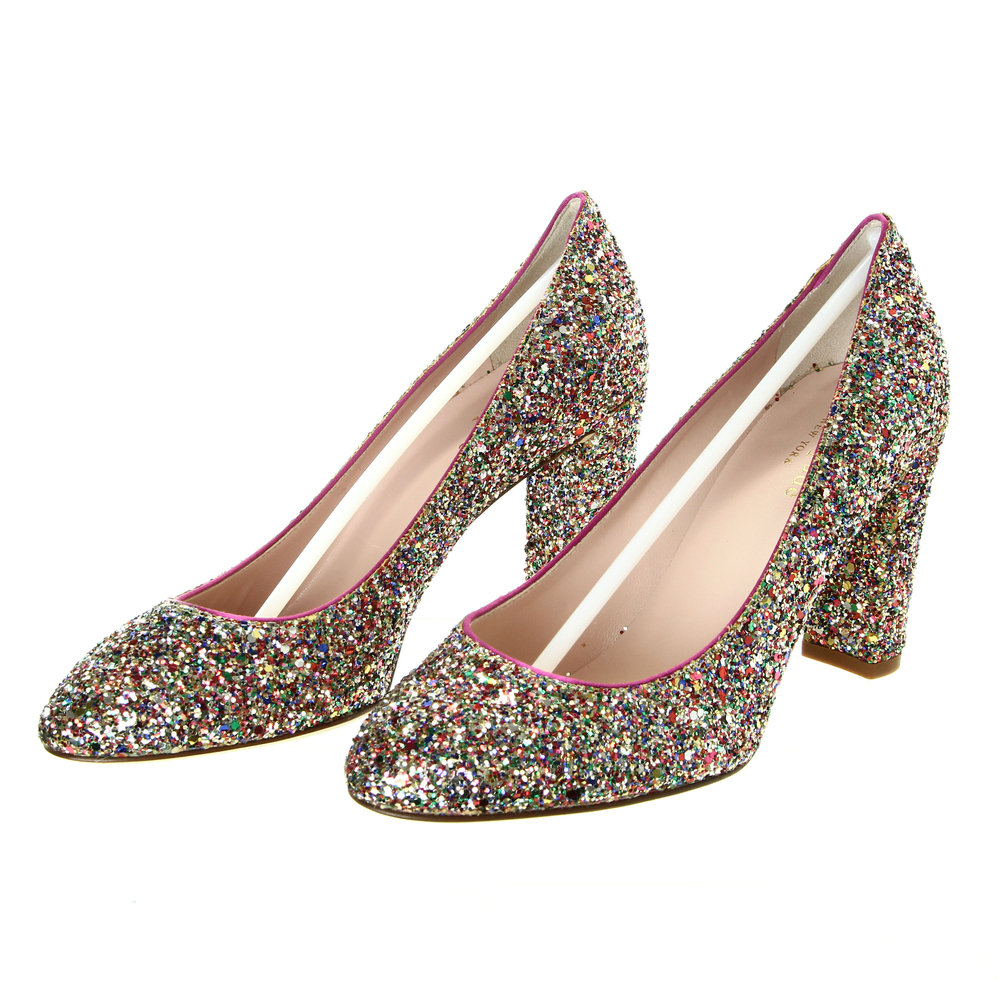 22c145026c91 Kate Spade New York Vero Cuoio Glitter Pump Size 5.5 Heels
