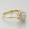Sweet 14k Yellow Gold Floral Diamond Cluster Ring