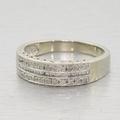 Stunning Ladies Vintage 10K White Gold 0.25ct Diamond Anniversary Ring Band