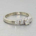 Glittering Five Diamond 14k White Gold Engagement Ring
