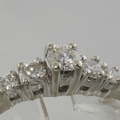 Scintillating Ladies 14k White Gold Diamond 0.35CTW Engagement Ring Jewelry