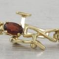 4.00ct Mozambique Garnet 14k Gold Tennis Bracelet