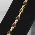 4.00ct Mozambique Garnet 14k Gold Tennis Bracelet