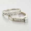 Dazzling Ladies .75ct Diamond 14k Gold Engagement Ring Matching Wedding Band Set
