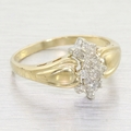Elegant Vintage Gold & Diamond Cluster Ring Jewelry