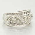 Braided White Gold 0.40ct Diamond Fashion Ring Band
