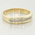 Vintage 0.25ctw Diamond Anniversary 10K Gold Channel Ring Band
