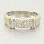 Vintage 14k Gold 0.35ctw Diamond Pave' Anniversary Ring