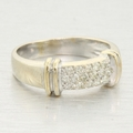 Vintage Ladies 14k White&Yellow Gold 0.35ctw Diamond Anniversary Ring Jewelry