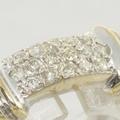 Vintage Ladies 14k White&Yellow Gold 0.35ctw Diamond Anniversary Ring Jewelry