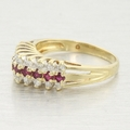 Cathedral Ruby & Diamond 14k Gold Vintage Ring Jewelry