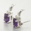 Edwardian Ladies 14K White Gold 8.15cts Amethyst Diamond Jewelry Set