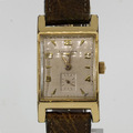 Ladies Vintage Authentic Longines 10k & Leather Watch