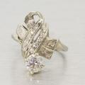Antique Estate 1.20ct Diamond 14k Gold Ribbon Ring