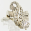Antique Estate 1.20ct Diamond 14k Gold Ribbon Ring