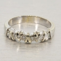 Unique Estate Diamond 14k Gold V-Curve Band Ring