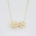 14K White & Yellow Gold Pearl Necklace