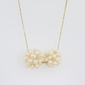 Fine Estate Ladies 14K Yellow White Gold Seed Pearl Necklace Jewelry