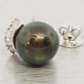 14K White Gold Black Tahitian Pearl Jewelry Set