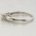 10K White Gold Diamond Engagement Ring