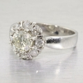 Estate 14K White Gold Diamond Engagement Ring