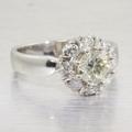 Estate 14K White Gold Diamond Engagement Ring