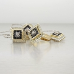 14K Yellow Gold Diamond & Sapphire Jewelry Set