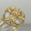 Estate 14K Yellow Gold Opal Cocktail Ring