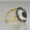 10K Yellow Gold Diamond & Sapphire Cocktail Ring