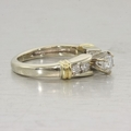 Estate 14K White and Yellow Gold Diamond Engagement Ring