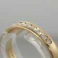 Lovely 14K Yellow Gold Channel Set Diamond Vintage Wedding Anniversary Band Ring