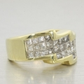 Beautiful Ladies 14K Yellow Gold Princess Diamond Anniversary Wedding Band
