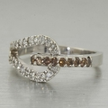 Stunning Ladies 14K  White Gold Diamond Fashion Ring Jewelry